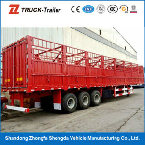 High Qualitied Three Axles Carbon Steel Livestock Semi Trailer on Hot Sale
