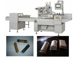 Three Servo Motor Control Biscuit Packaging Machine pictures & photos