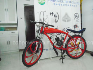26 Inch Mag Wheel Red Color Bicycle, Gas Frame, Gas Tank Built in Motorized Bicycle Cdhpower China Producing pictures & photos