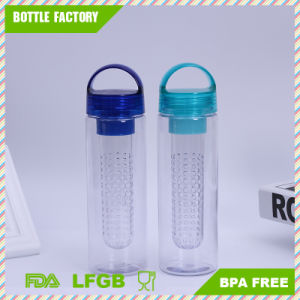 Hot Sale Plastic Fruit Infuser Water Bottle with Handle pictures & photos