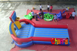 2014 Inflatable Bungee Run with Basketball pictures & photos