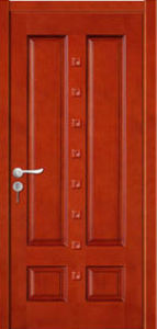 Hot Sale High Quality Solid Wooden Door with Fashion Design with Certificate pictures & photos