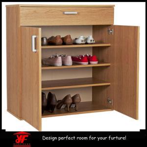 Multi Function Living Room Large Wooden Sliding Door MDF Shoe Rack