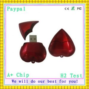 Full Capacity High Quality USB Stick Heart (GC-H078) pictures & photos