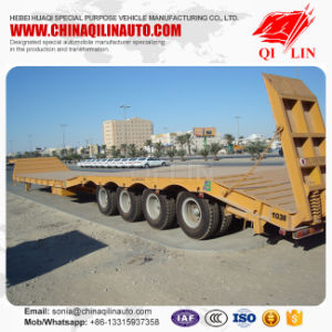 Utility Low Bed Truck Trailer Gooseneck Flatbed Trailers for Sale pictures & photos