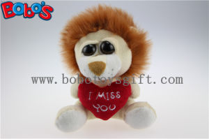 Small Size Stuffed Lion Animal with Big Eyes and Heart Pillow pictures & photos