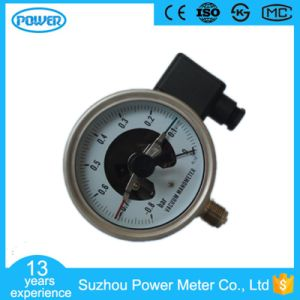 100mm 4′′ Bottom Type Stainless Steel Vacuum Electric Contact Manometer pictures & photos