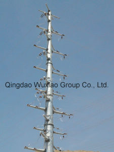 High Voltage Power Distribution and Transmission Electric Monopole Mast pictures & photos