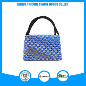 New Fashion and Microfiber with Printed Flower Material Tote Bag pictures & photos