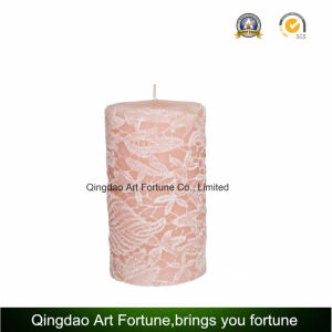 Carved Candle with Embossed Rose Pattern for Home Decoration pictures & photos