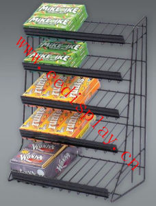 Metal Snack Display Stand / Counter Candy Display Rack