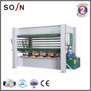 Woodworking Hydraulic Hot Press Machine for Laminating MDF Boards pictures & photos