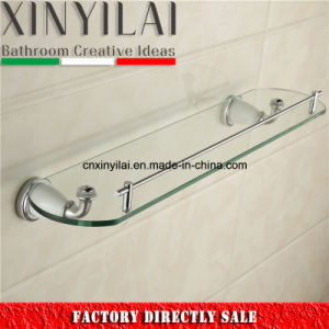 Single Glass Shelf with Chrome and Painting of Bathroom Accessories pictures & photos