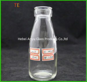 200ml 250ml 500ml Empty Milk Glass Bottle with Plastic Lids pictures & photos