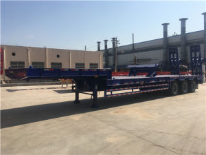 3 Axles Low Bed Semi-Trailer for Construction Transport pictures & photos