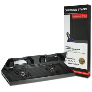 Cooling Fan Stand with Controller Dual Charger for PS4 Console Cooler pictures & photos