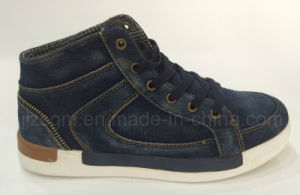 Fashion high Top Washed Denim Street Casual Shoes pictures & photos