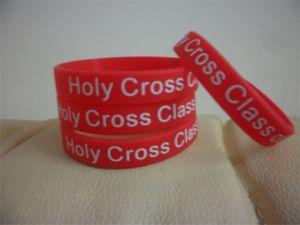 Custom Texture or Logo Wristband, Silicone Bracelets P150011