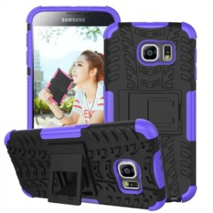 Plastic Hybird Armor Mobile Cell Phone Case for Samsung S6