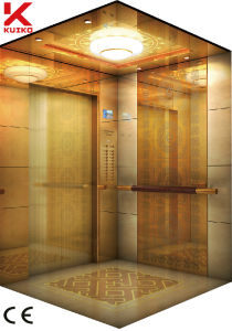 Hotel Elevator with blue Light Traction Machine pictures & photos
