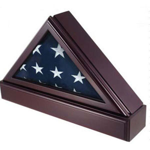 Triangle Medal Box for Flag and Made of Wood pictures & photos