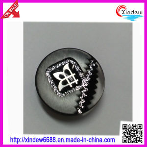 Black Plastic Fashion Women Coat Buttons (XDJZ-082) pictures & photos