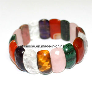 Semi Precious Stone Fashion Crystal Beaded Faceted Bracelet Jewelry pictures & photos