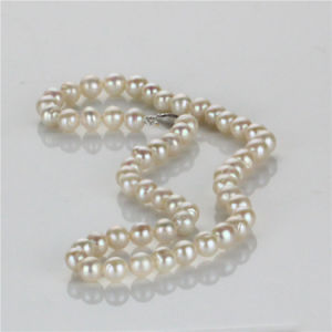 Snh 8mm off Round a+ Silver Jewelry Fresh Water Pearl Set pictures & photos