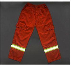 Cheap Multi Pockets Orange T/C Hi-Vis Work Cargo Pants Reflective pictures & photos