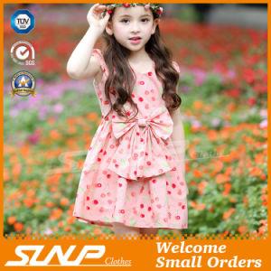 Girls Flowers Dress Sleeveless Children Clothing