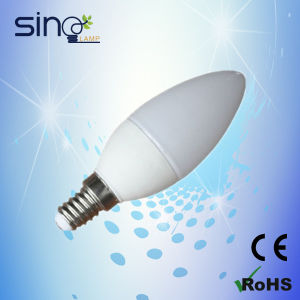 4W LED Candle Bulb C37, Candle C37 LED Lamp 3W/4W E14 Ceramic Housing pictures & photos