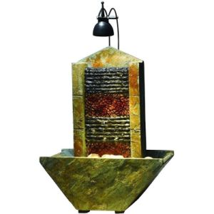 Indoor Stone Tabletop Fountain with LED Spot Light pictures & photos