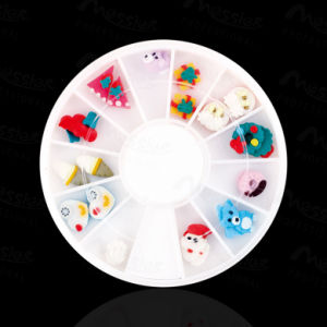 Nail Art UV Acrylic Decoration Wheel 3D Christams Gift Fimo Clay Rhinestone Slice pictures & photos