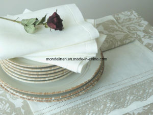 Luxury Pure Linen Napkin with Hemstitches (TN--003)