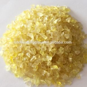 Light Yellow Crushed Glass Sands pictures & photos