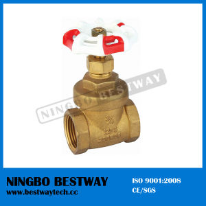 200wog Brass Gate Valve with Red and White Handlewheel (BW-G03) pictures & photos