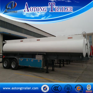 2 Axle 3 Compartment Fuel Tank Semi Trailer for Sale pictures & photos