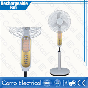 New Design 12V DC Solar Power Rechargeable Stand Fans with LED Light