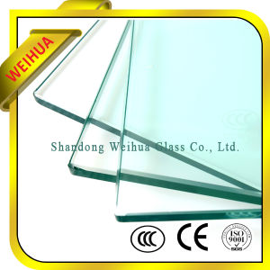 Solid Structure and Flat Shape Clear Tempered Glass for Door Panel pictures & photos