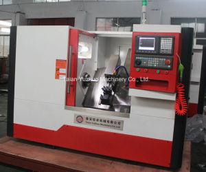 Inclined Guide Rail 3 Axis Wheel Slant Bed CNC Lathe Machine pictures & photos
