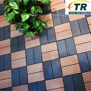 Easy Installed Interlocking WPC Decking Flooring DIY Tiles pictures & photos