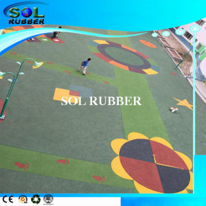 Colorful Sport Flooring Surface EPDM Granules Rubber Flooring pictures & photos