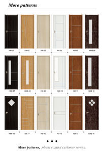 Eco-Friendly PVC Laminated Wood Plastic Composite Door with SGS Certificates (KM-05) pictures & photos