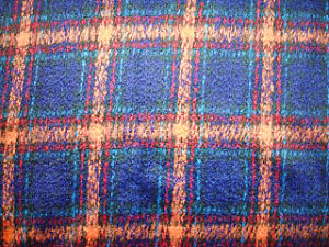 Double Velvet Check Woolen Fabric pictures & photos