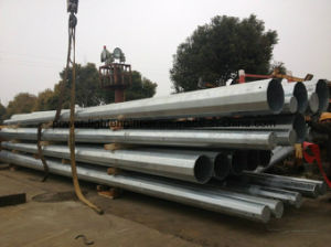 Galvanization Steel Power Tubular Transmission Pole pictures & photos