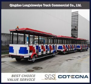 Professional Lxwy Electric Trackless Tourist Train Coaches for Sale pictures & photos