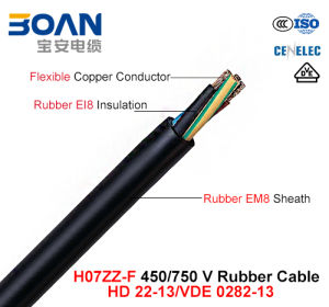 H07zz-F, Rubber Cable, 450/750 V, Flexible Rubber Cable (VDE 0282-13) pictures & photos
