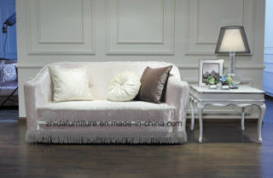2 Seater Queen Pink Color Fabric Sofa pictures & photos