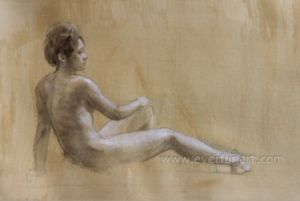 Handmade Wholesale Modern Nude Painting Photo Ebf-032 pictures & photos
