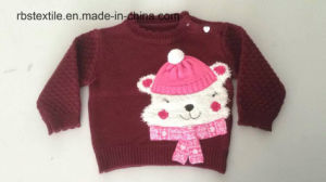Baby Girls Bear Acrylic - True Knitted Sweater pictures & photos
